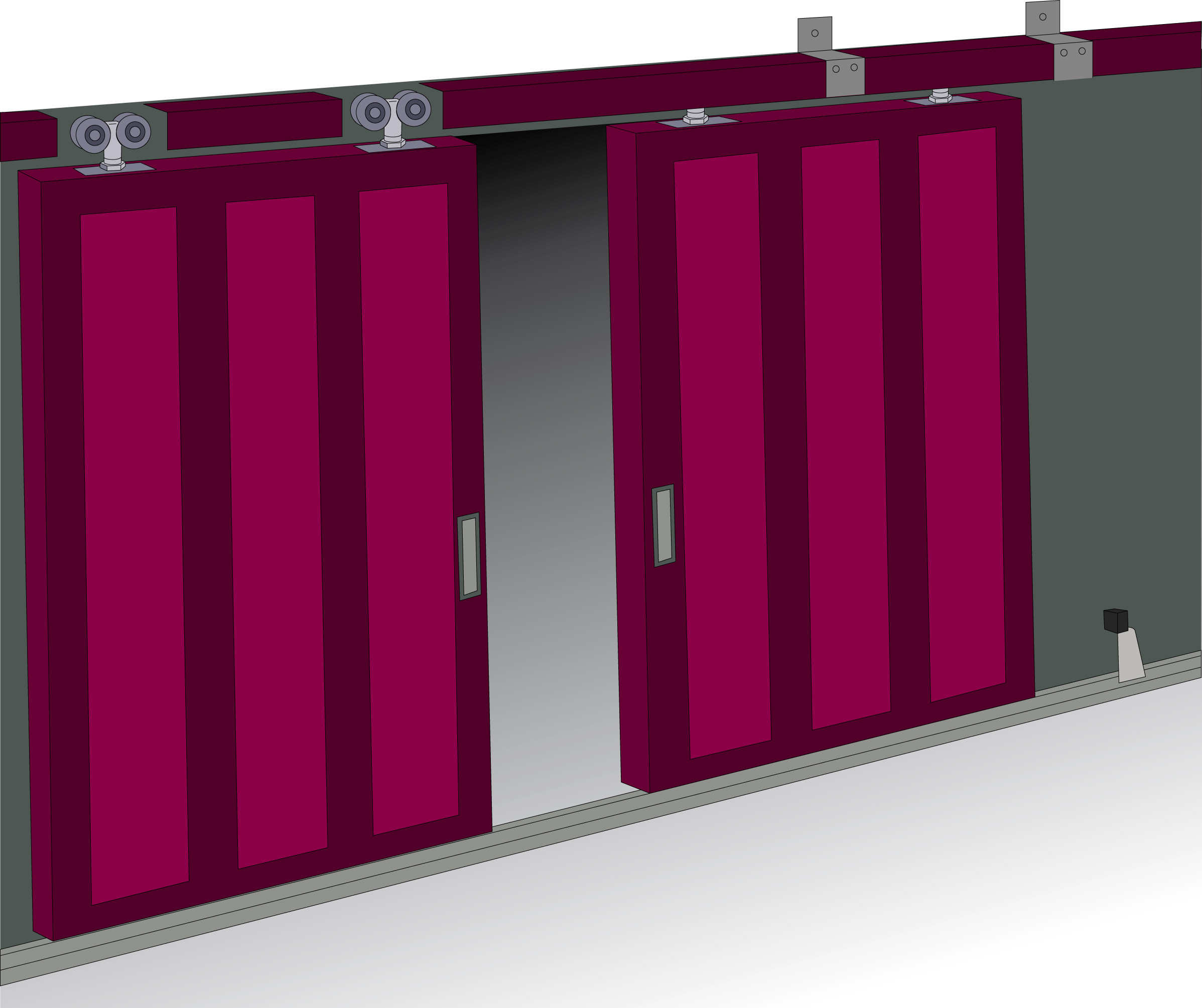 Herrajes para puertas metalicas herrajes puertas for Puertas corredizas metalicas