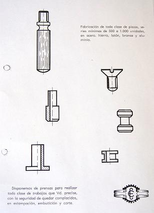 Productos fabricados 1965 estebro