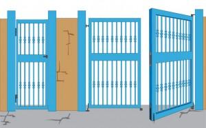 Herrajes puertas cancela herrajes puertas - Bisagras puertas metalicas ...