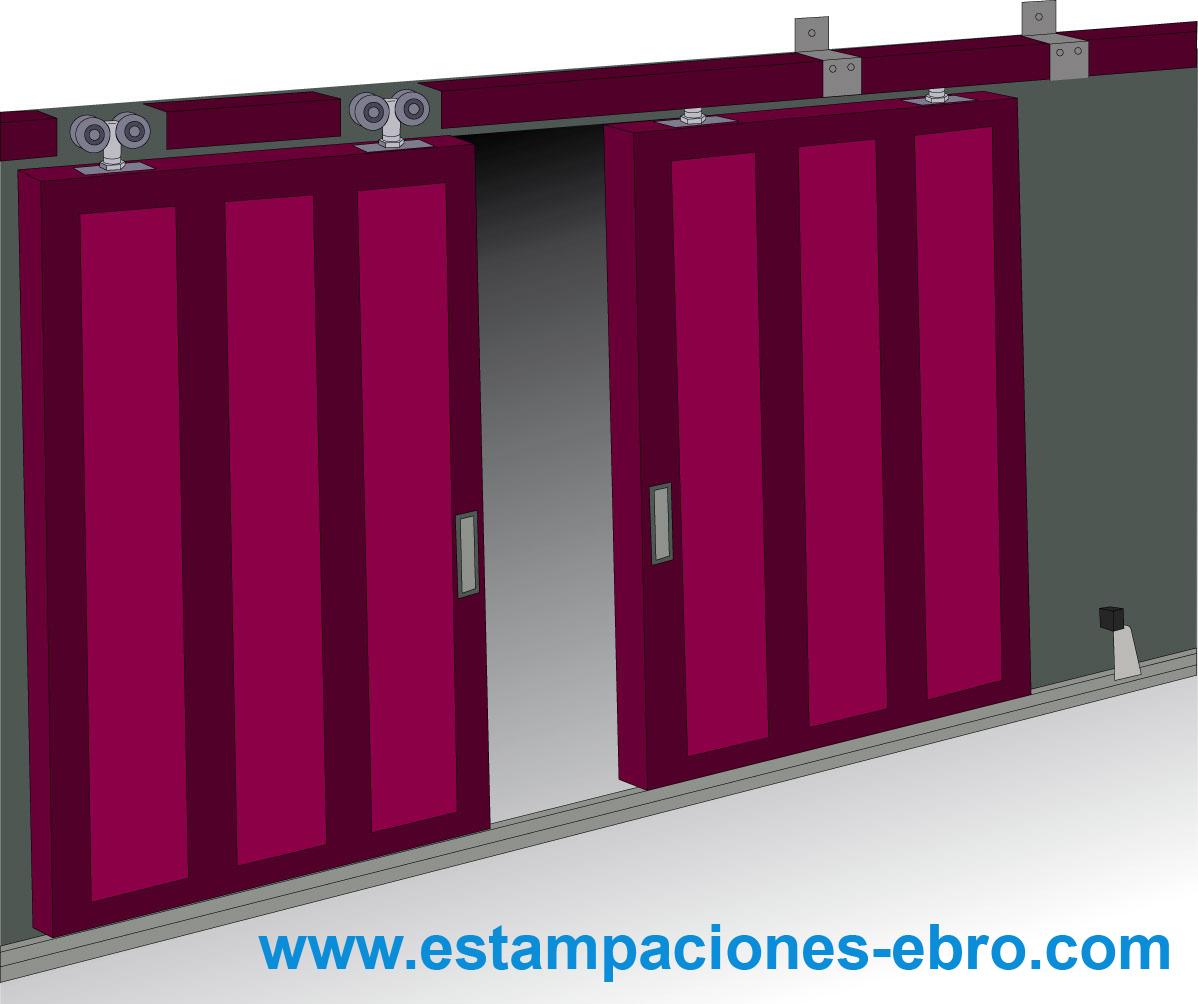 Puerta corredera de hierro kit de puerta corredera triana - Herrajes puertas correderas ...