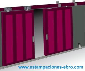 Rollapares herrajes puertas for Puertas correderas colgadas