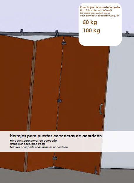 Herrajes puertas correderas madera herrajes puertas - Puertas acordeon madera ...